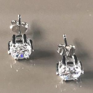 2 Carat CZ Sterling Silver Earrings